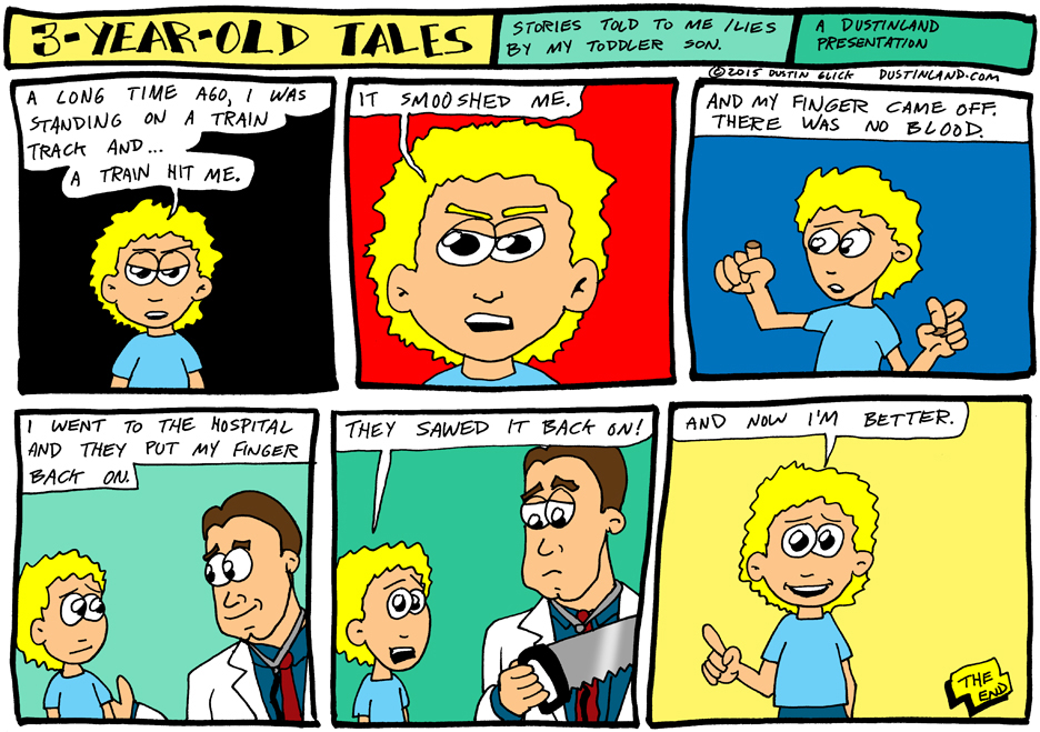 dustinland three year old tales comic