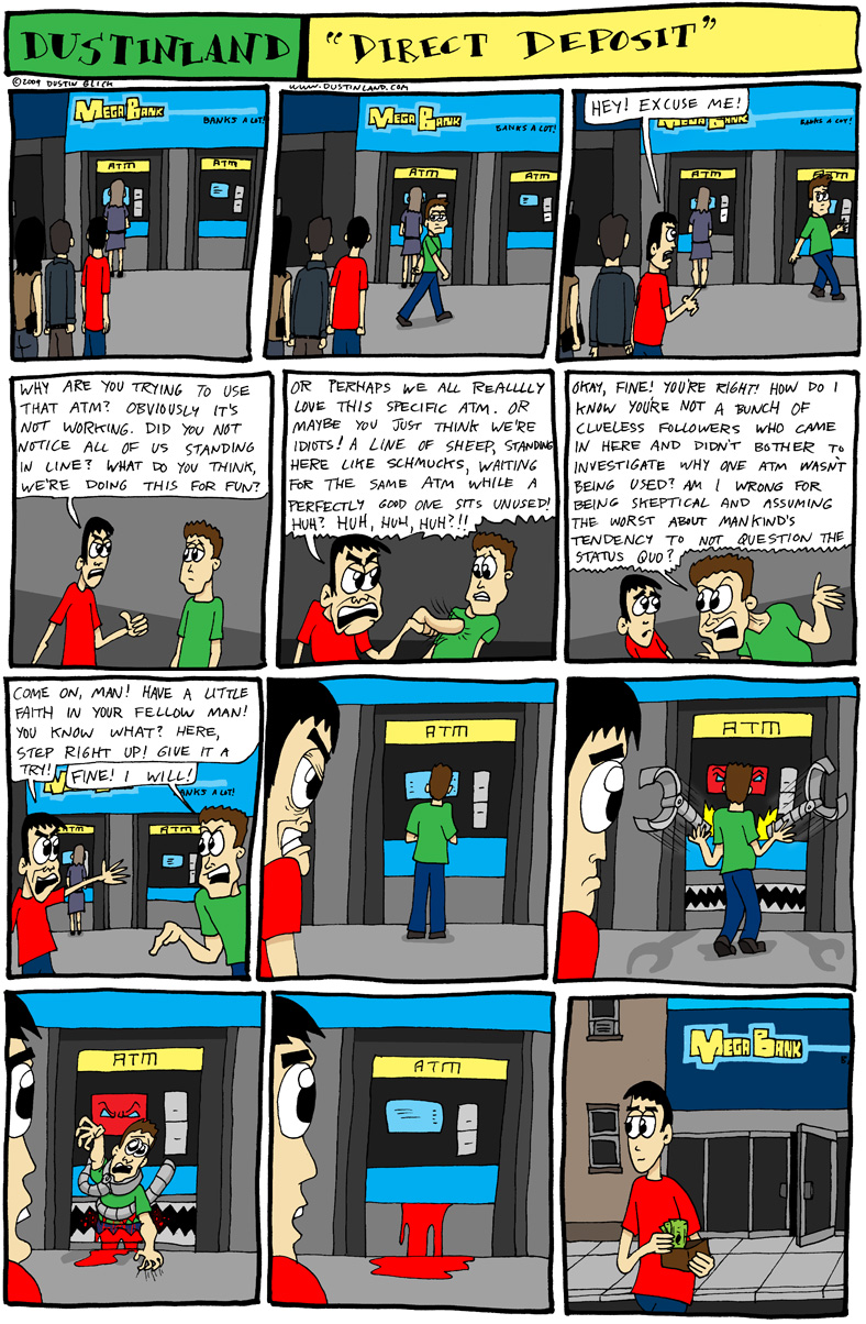 dustinland ATM comic cartoon