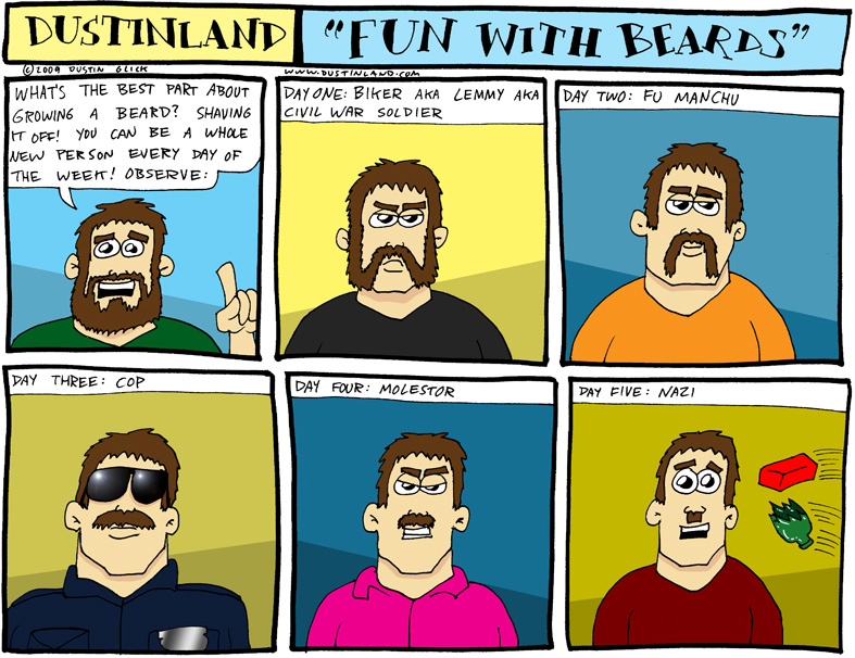 dustinland beard shave comic
