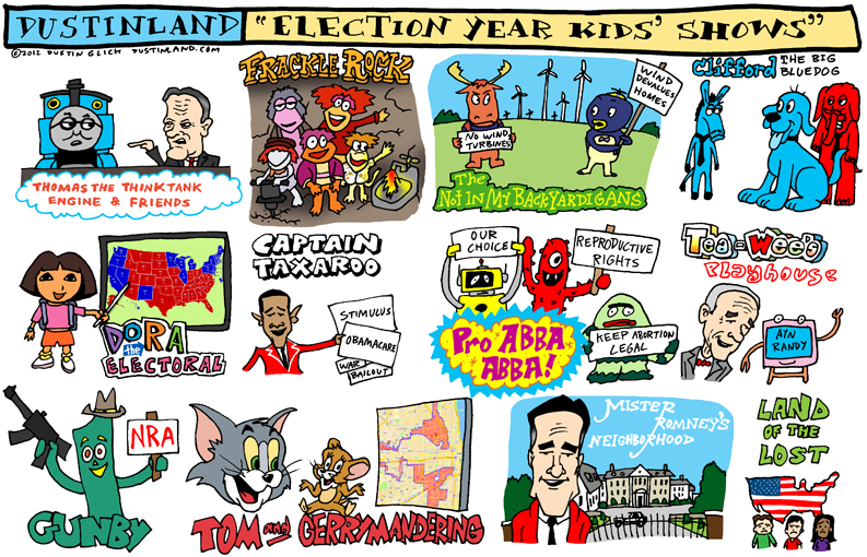 dustinland election year kids shows comic