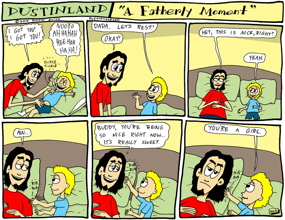 dustinland fatherly moment comic
