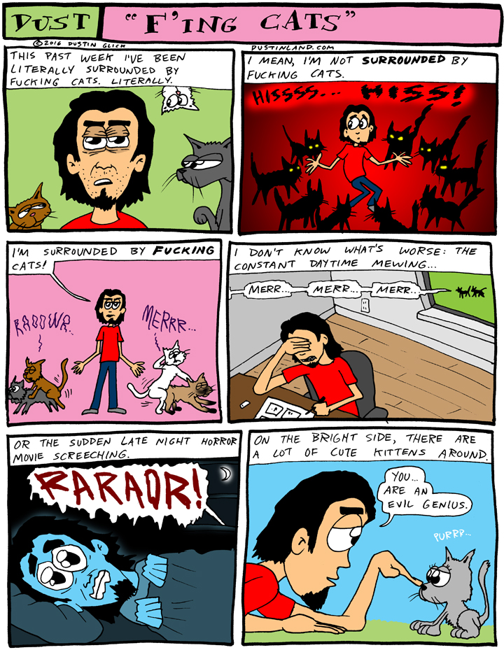 dustinland fing cats comic