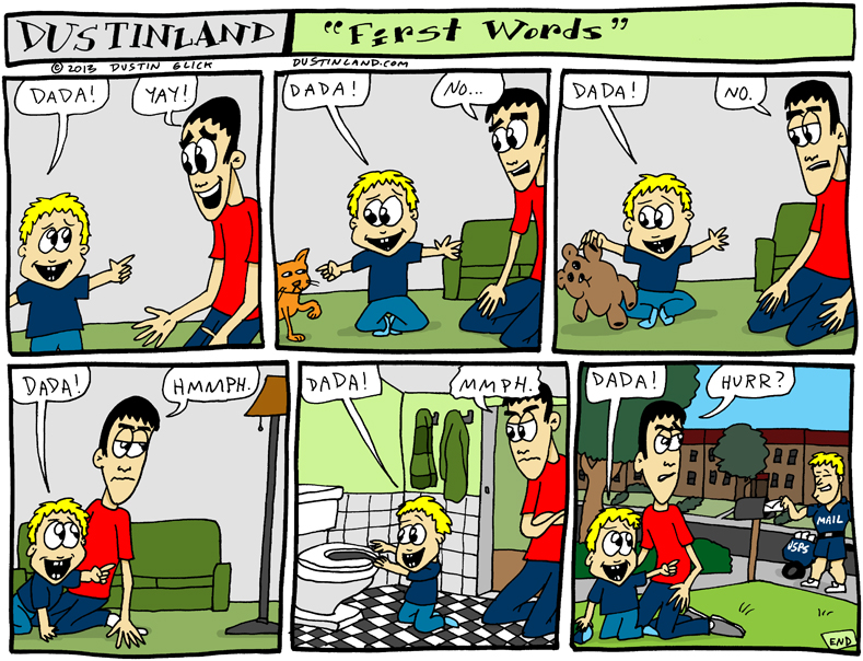 dustinland first word comic