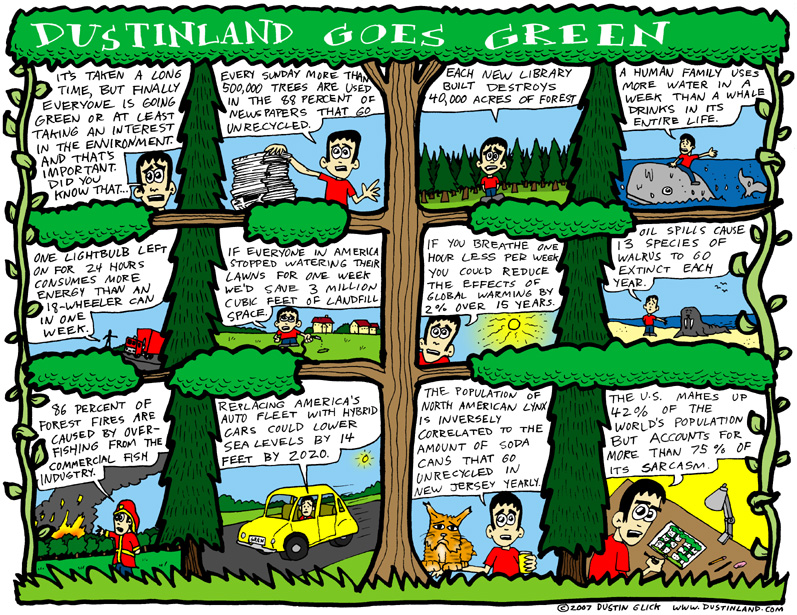 dustinland green comic