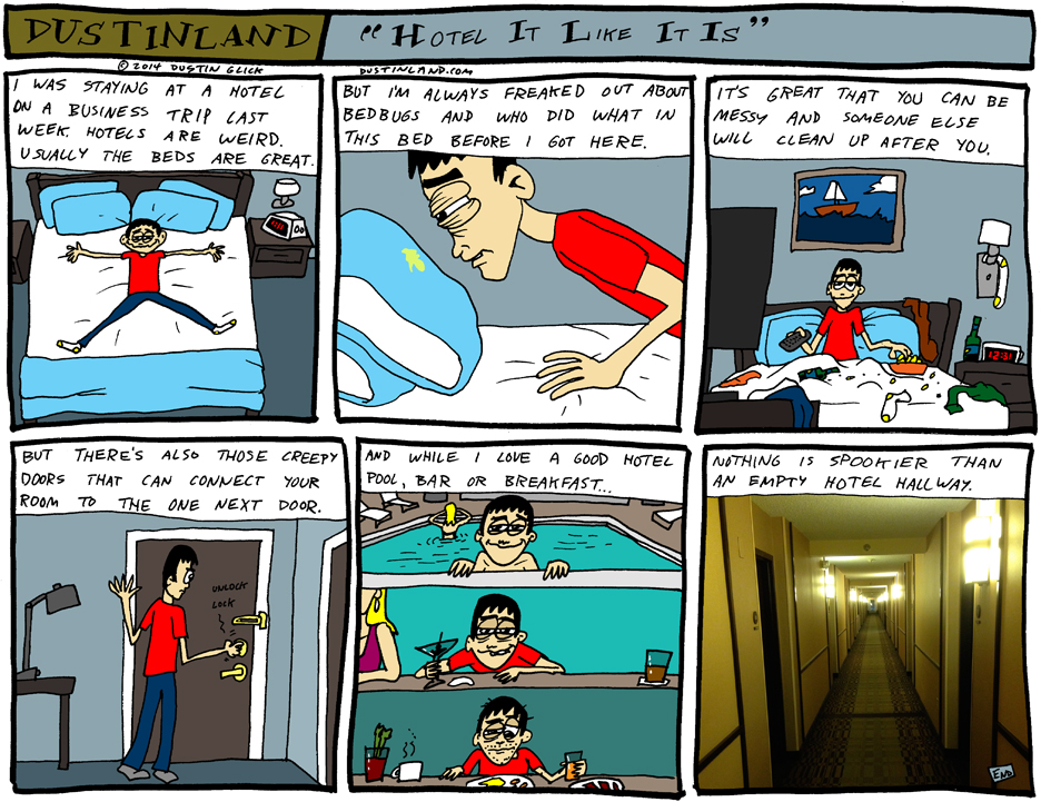 dustinland hotels comic
