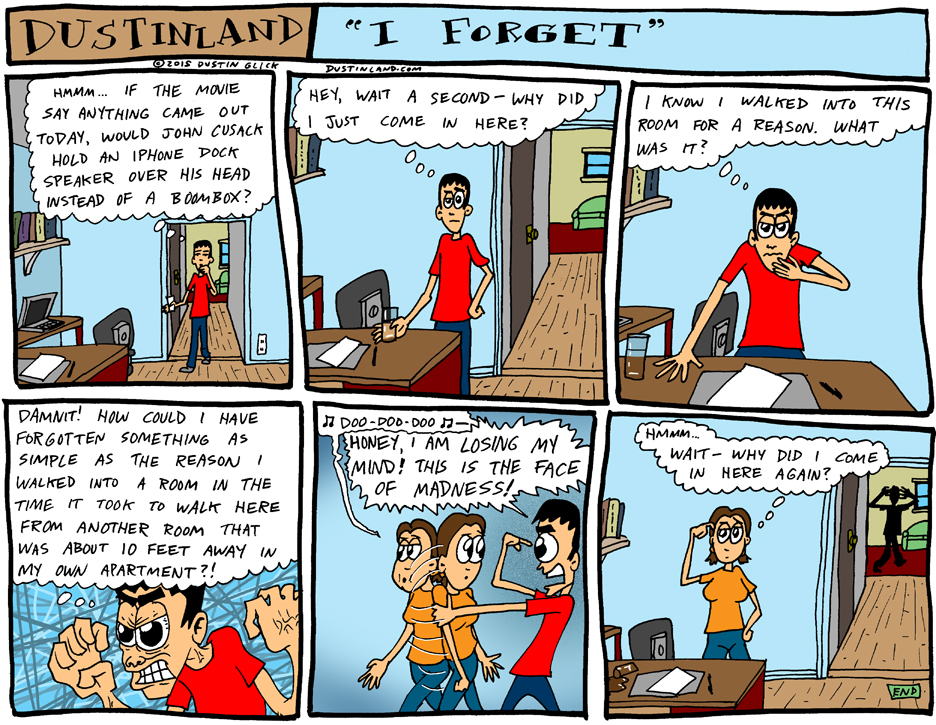 dustinland i forget comic