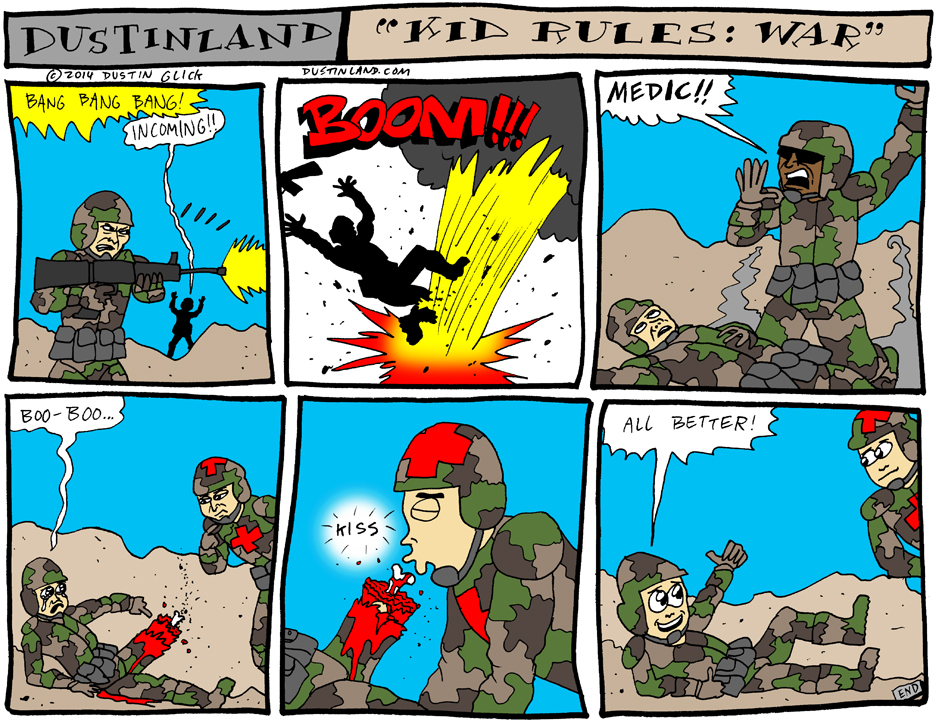 dustinland kid rules war comic