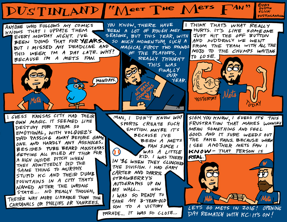 dustinland mets vs royals comic