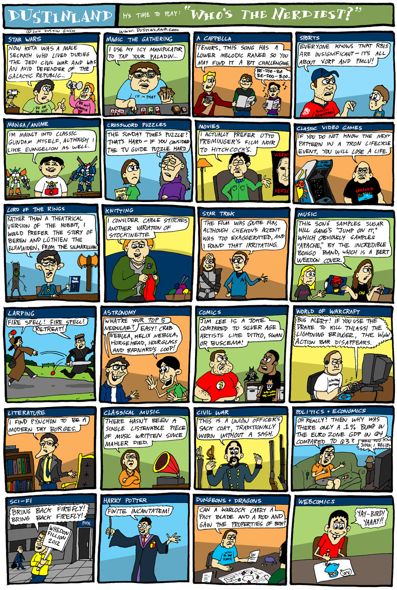 dustinland comic cartoon nerds