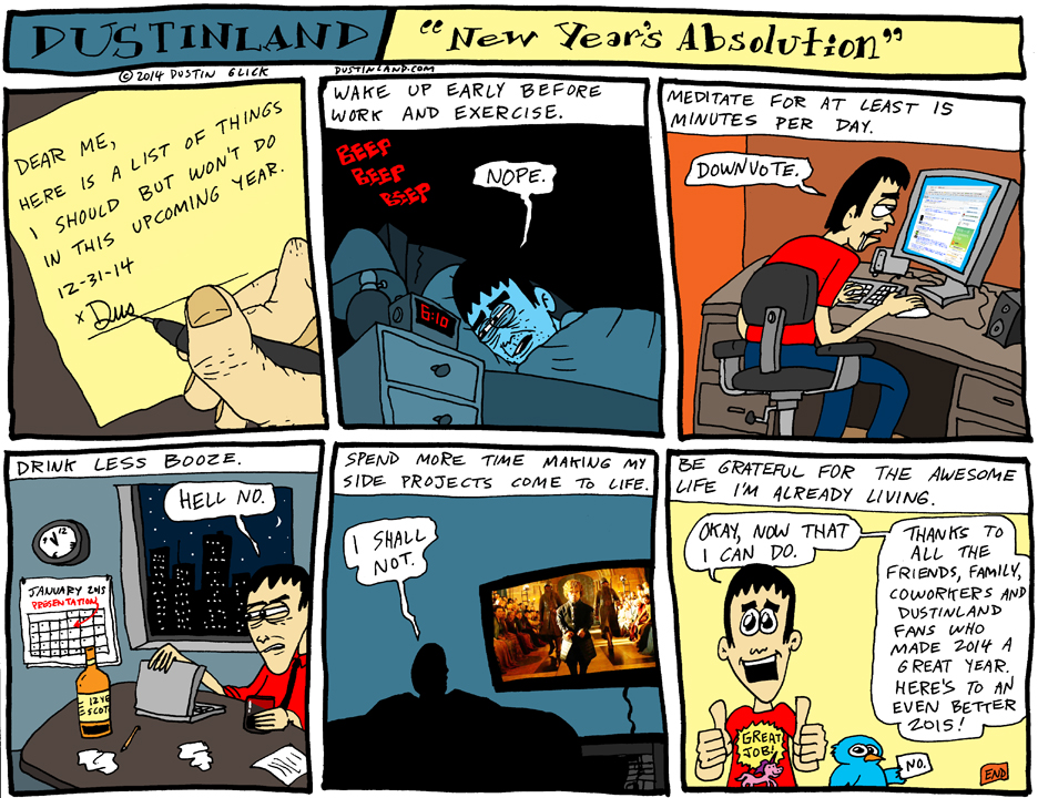 dustinland new years 2015 comic