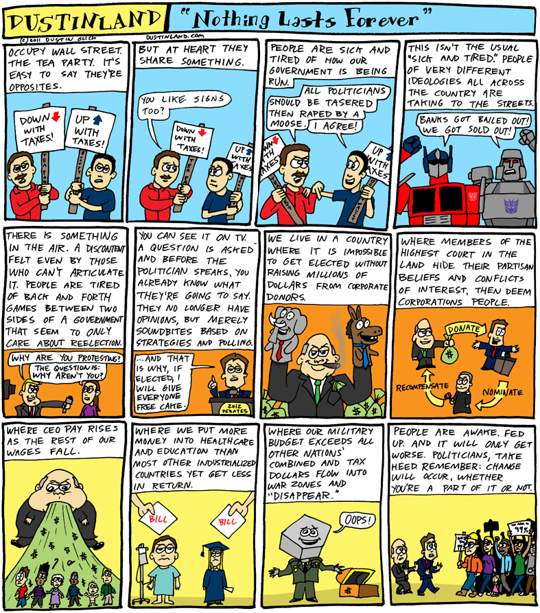 dustinland occupy wall street comic