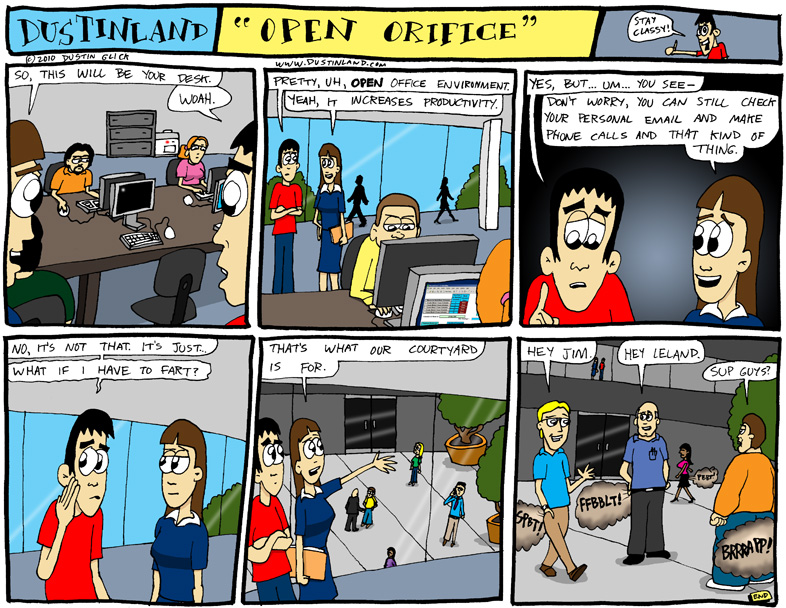 dustinland comic office