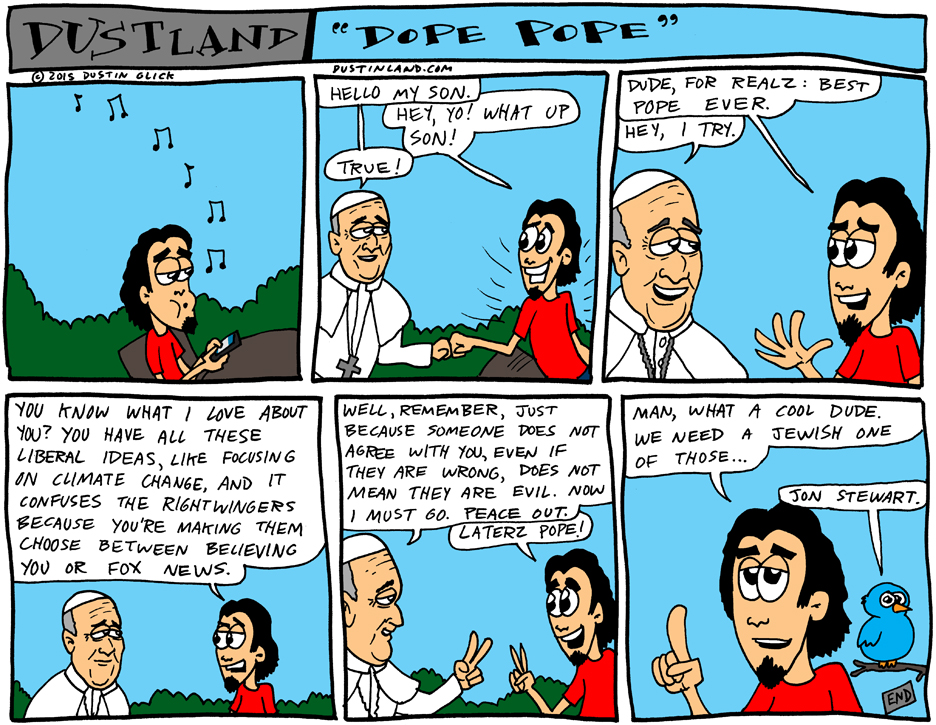 dustinland pope comic