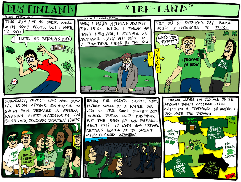 dustinland st patriccks day comic strip