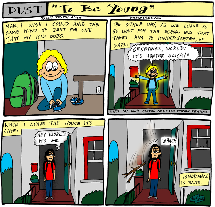 dustinland to be young comic
