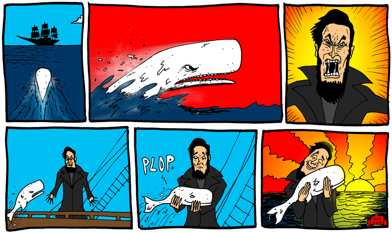 dustinland white whale moby dick comic 2
