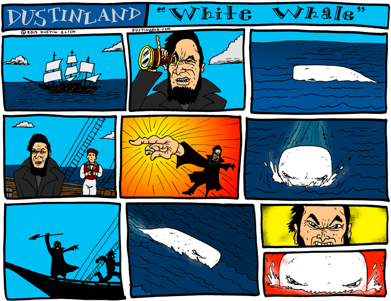 dustinland white whale moby dick comic